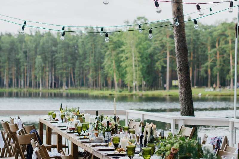 lake infront of dining table