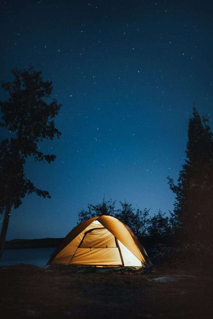 tent in the midnight stars