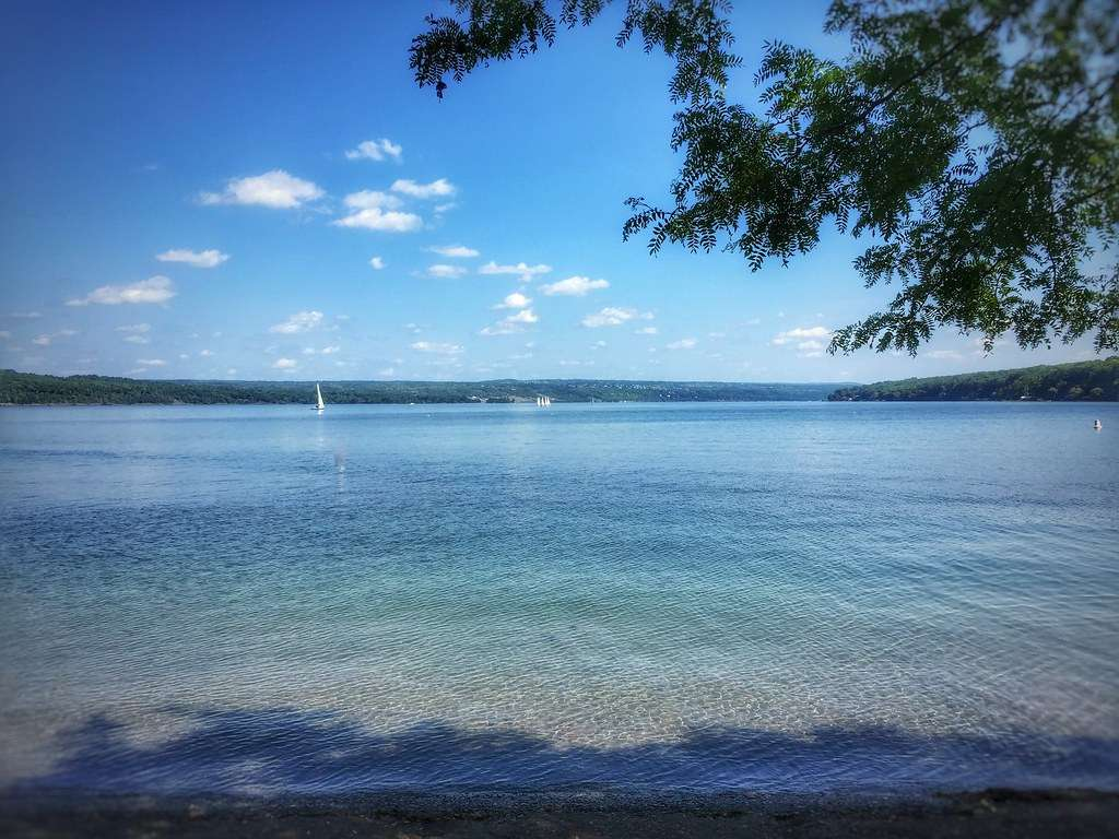 Cayuga Lake - is the longest of central New York's glacial Finger Lakes