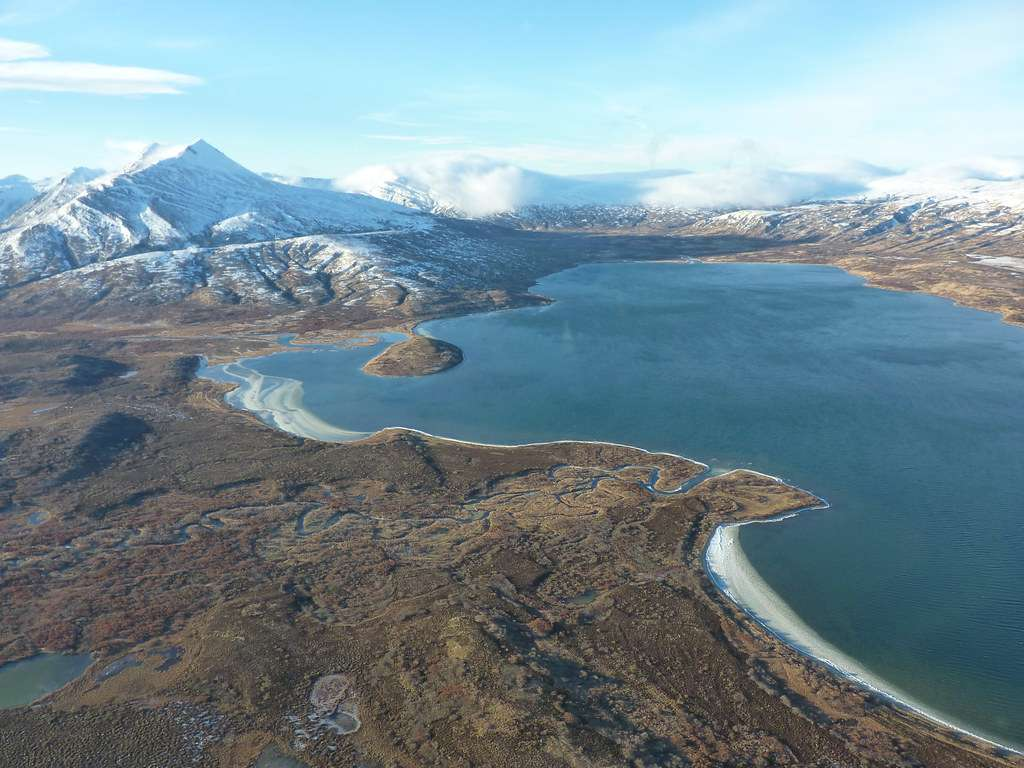 Becharof Lake - eighth on list of largest lakes of the United States by volume