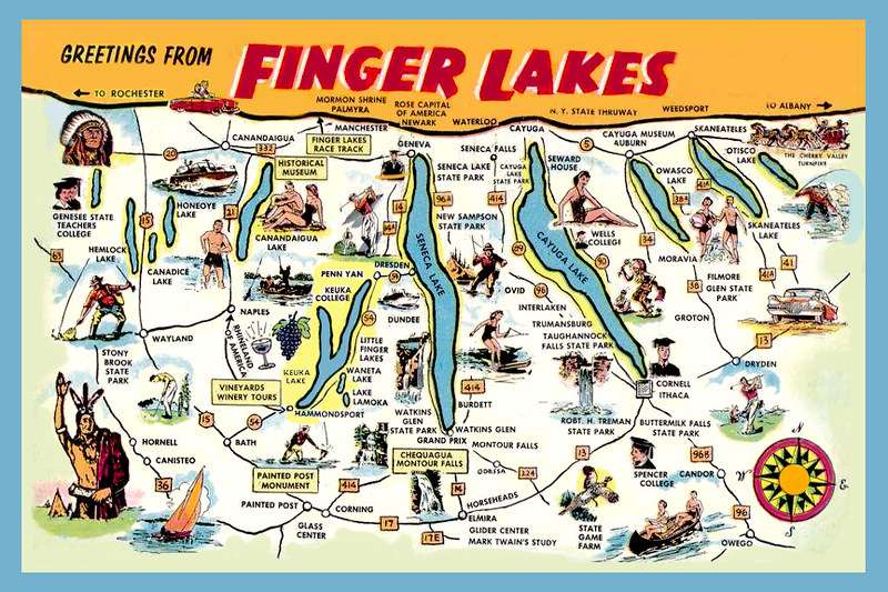 Finger Lakes – largest recreation and vacation lake in New York