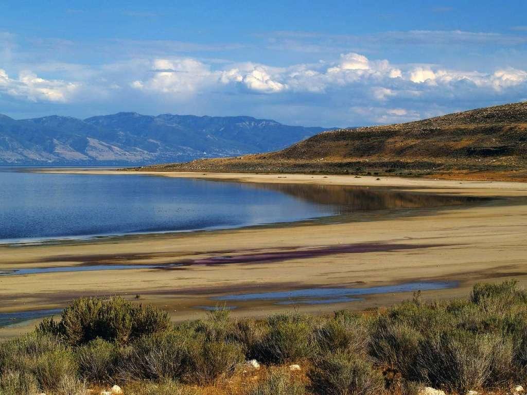Great Salt Lake - the largest saltwater lake in the Western Hemisphere