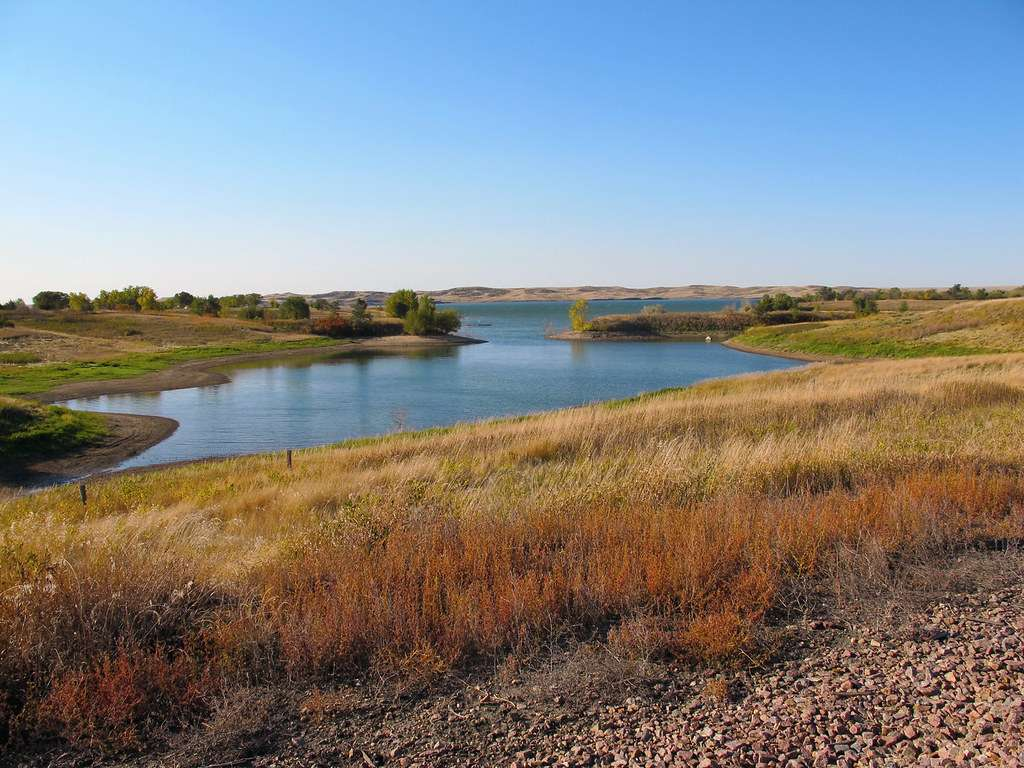 Lake Oahe - the fourth-largest reservoir in the US