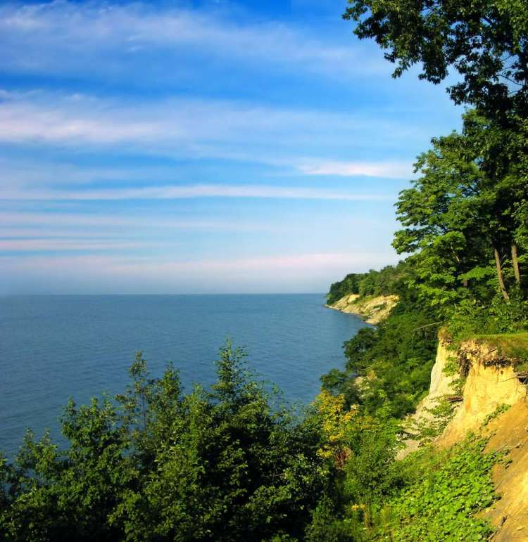 Lake Erie - the eleventh-largest globally lake