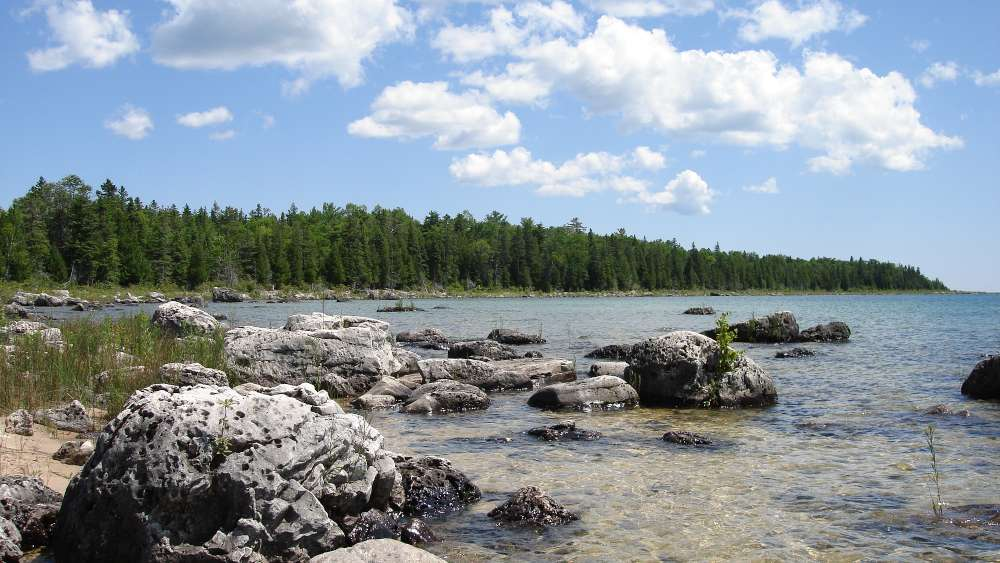Lake Huron - one of the five Great Lakes of North America